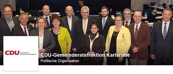 Die CDU-Gemeinderatsfraktion Karlsruhe auf Facebook