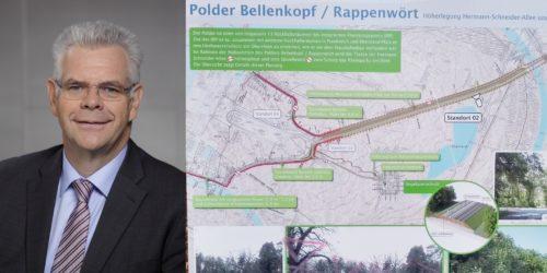 Motiv: Polder Bellenkopf/Rappenwört: CDU-Fraktion drängt auf unabhängige Begutachtung der Stellungnahme des Vorhabenträgers